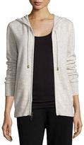 Neiman Marcus Cashmere Jogger Zip-Front Jacket