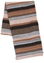 Black Brown 1826 Stitch Stripe Scarf