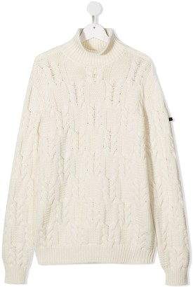 Balmain Kids TEEN argyle-knit jumper