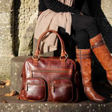 Etsy Brown Leather Weekend Holdall Travel Diaper Bag