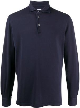Fedeli Long Sleeved Pique Polo Shirt