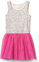 Gap Floral tulle tank dress