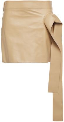 J.W.Anderson Draped Leather Mini Skirt