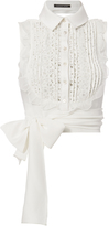 Marissa Webb Shilo Crepe And Lace Blouse