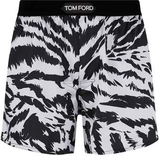 Tom Ford Silk Tiger Print Boxers