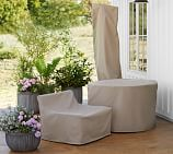 Pottery Barn Custom Round Dining Set Furniture Cover