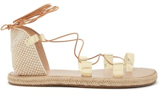 Ancient Greek Sandals Esmeralda Woven-canvas Sandals - Gold