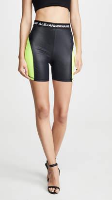 Alexander Wang Wash & Go Satin Jersey Biker Shorts