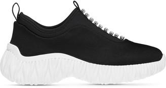 Miu Miu Stretch Knit Slip-On Sneakers