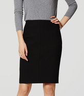LOFT Curvy Seamed Stretch Pencil Skirt