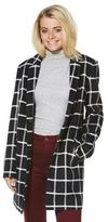 F&F Bonded Seam Checked Coat, Women's