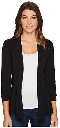 Mod-o-doc Mod O Doc Supreme Jersey Mid Sleeve Cardigan (Black) Women's Sweater