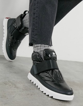 Sorel Joan Of Arctic Next Lite short ankle boots in black
