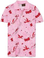 Loewe Paula's Ibiza Printed Cotton-piqué Polo Shirt - Pink