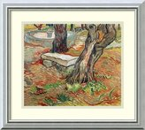 Amanti Art Framed Art Print 'The Bench at Saint-Remy, 1889' by Vincent van Gogh