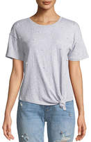 Generation Love Ava Pearls Knot-Front Top