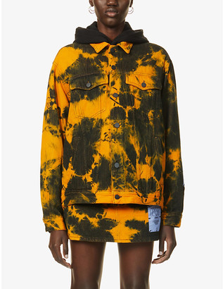 McQ Genesis II tie-dye oversized denim jacket