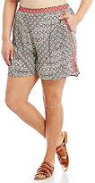 Gibson & Latimer Plus Geometric Printed Soft Shorts