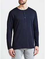 Sunspel Pima Cotton Long Sleeve Henley Top