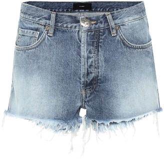 Alanui Mid-rise denim shorts
