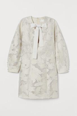 H&M Jacquard-patterned mini dress