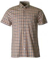 Aquascutum London Emsworth Short Sleeved Club Check Shirt