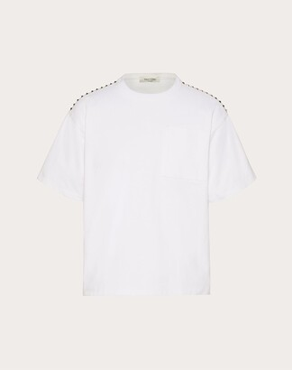 Valentino Rockstud Untitled T-shirt Man White Cotton 100% XXL