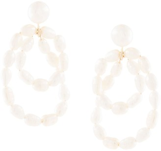 NATASHA SCHWEITZER 9kt yellow gold Coco pearl earrings