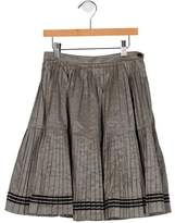 Bonpoint Girls' Pleated Gingham Skirt