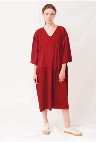 Beaumont Organic Yara Dress - XS / Cranberry - Red