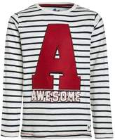 Mothercare STRIPE AWESOME APPLIQUE Long sleeved top brights multicolor
