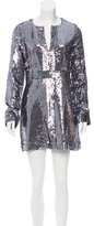 Tory Burch Silk Sequined-Embellished Dress w/ Tags