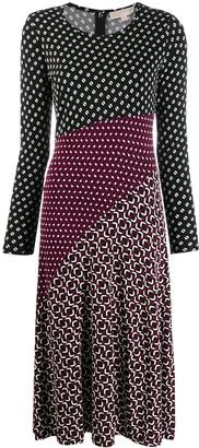 MICHAEL Michael Kors Contrast Panelled Midi Dress