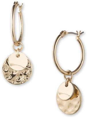 lonna & lilly Double Contrast Texture Disc Drop Earrings