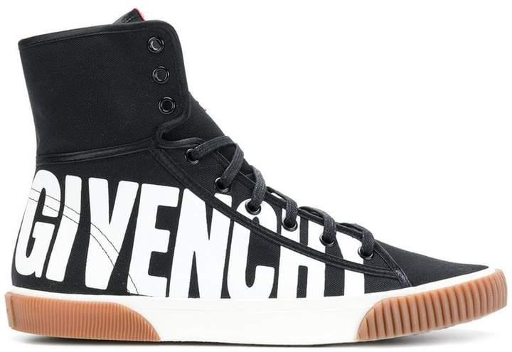 Givenchy logo print hi-top sneakers