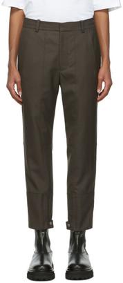 3.1 Phillip Lim Grey Cropped Biker Trousers