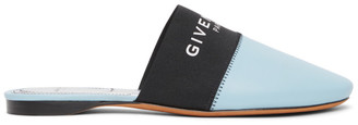 Givenchy Blue and Black Bedford Mules