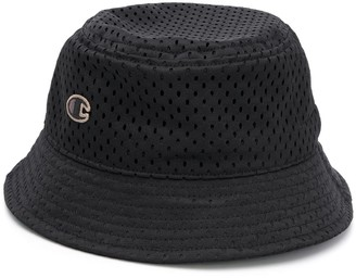 Rick Owens X Champion Logo Embroidered Mesh Bucket Hat