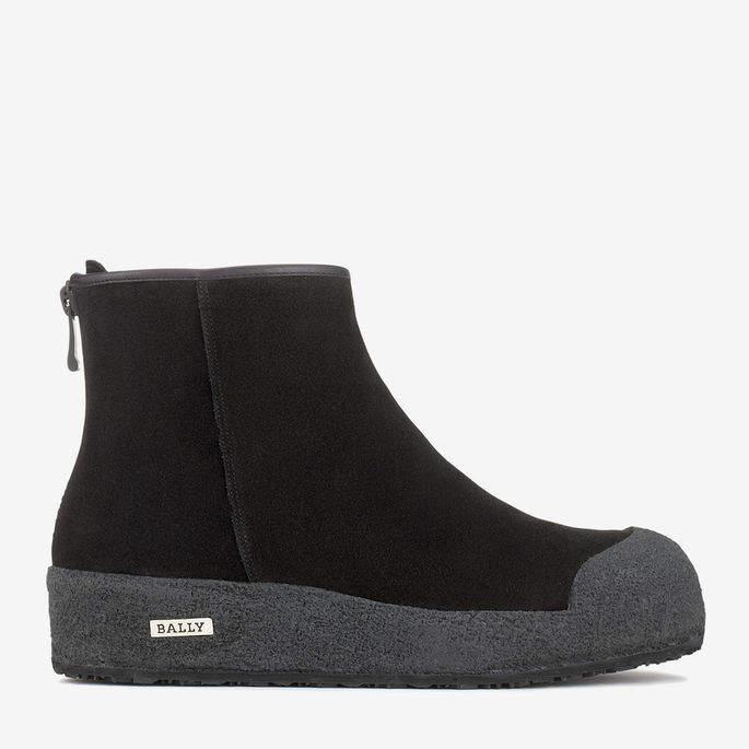 Bally Guard Black, Women's suede boot in Black