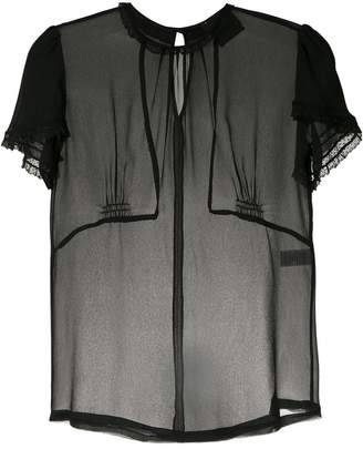 Andrea Bogosian sheer silk blouse