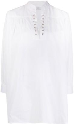 Roseanna Eyelet-Detail Mini Dress