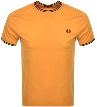 Fred Perry Twin Tipped T Shirt Orange