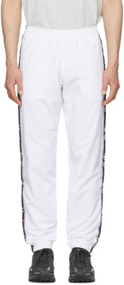 Champion Reverse Weave White Elastic Cuff Side Stripe Lounge Pants
