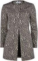 Gina Bacconi Round neck animal jacquard coat