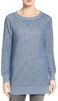 Caslon Space Dye Tunic Sweatshirt (Regular & Petite)