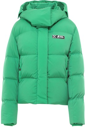 Off-White Logo Hooded Puffer Jacket