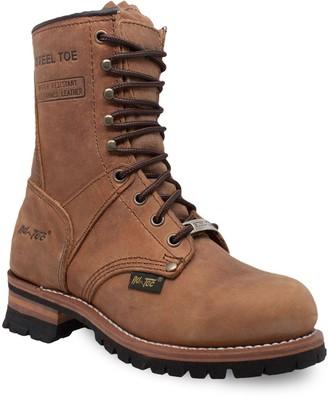AdTec 2426 Women's Water Resistant Steel Toe Logger Work Boots
