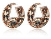 River Island Womens Orange geometric hoop earrings