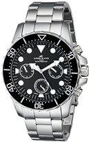 Adee Kaye Men's AK2322-BLK Marinaio Analog Display Japanese Quartz Silver Watch