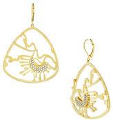Louise et Cie Open Lobe Brass Earrings